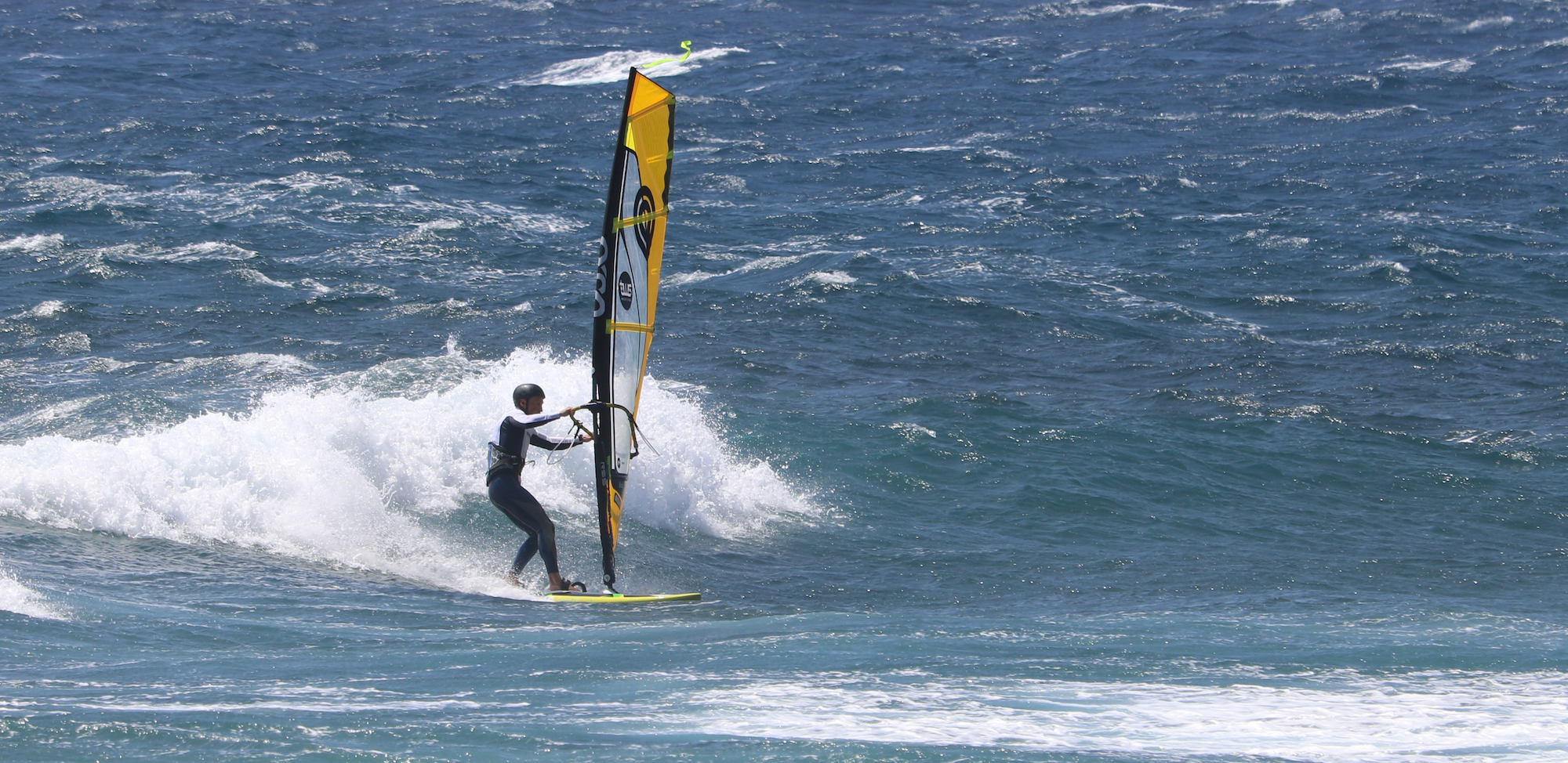 Windsurfing at El Medano in Tenerife –– the best feeling in the world...
